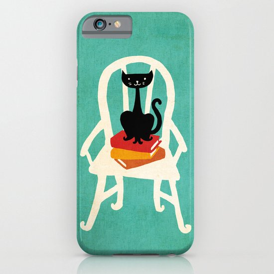 Still life with cat sitting on chair iPhone & iPod Case
