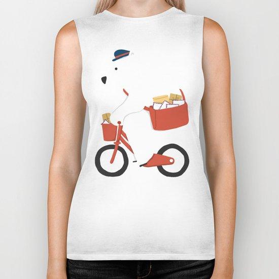 Polar bear postal express  Biker Tank