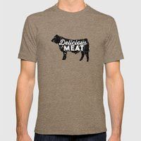Delicious Meat Mens Fitted Tee Tri-Coffee SMALL