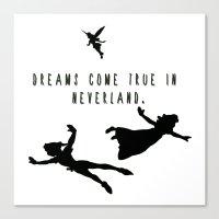 Dreams Come True In Neverland. Canvas Print