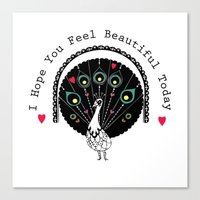 hope you feel beautiful Canvas Print