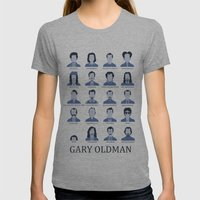 Gary Oldman Womens Fitted Tee Athletic Grey SMALL