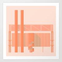 Cigarette Factory Art Print