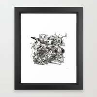 Animal Skulls Framed Art Print