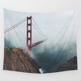 Wall Tapestry - Floating Bridge - Black Winter