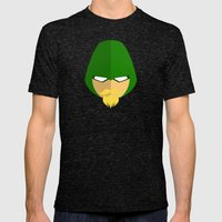 Green Arrow Mens Fitted Tee Tri-Black SMALL