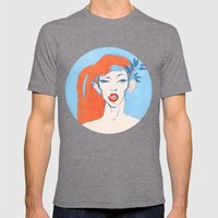 Selfie Girl_1 Mens Fitted Tee Tri-Grey SMALL