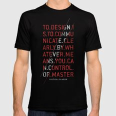To Design by Milton Glaser Black Mens Fitted Tee SMALL