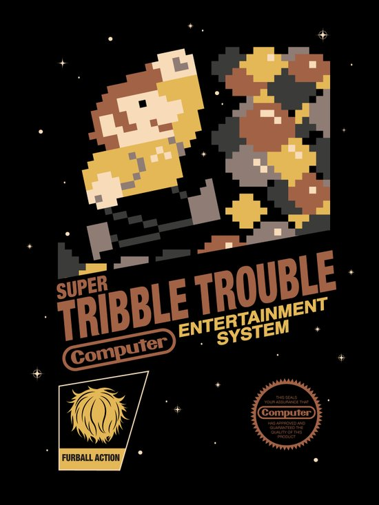 Super Tribble Trouble Art Print