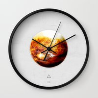 Element: Fire Wall Clock