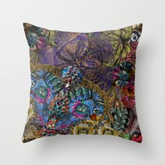 Psychedelic Botanical 8 Throw Pillow