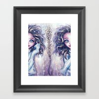 Winter Twins Framed Art Print
