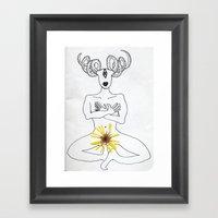 self portrait with calendula Framed Art Print