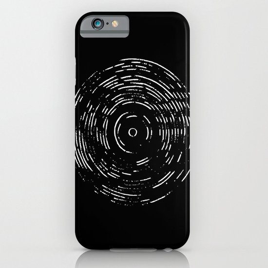 Record White on Black iPhone & iPod Case
