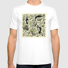 Verdant Graveyard SMALL Mens Fitted Tee White