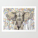 Elephant // Endangered Animals Art Print
