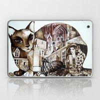 Sepia Cat Laptop & iPad Skin