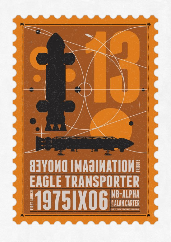 Beyond imagination: Space 1999 postage stamp  Art Print
