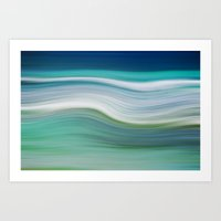 OCEAN ABSTRACT Art Print