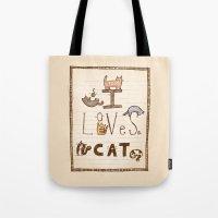I Loves Cat Tote Bag