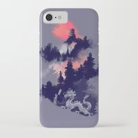 dragon iPhone & iPod Cases featuring Samurai's life by Picomodi