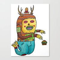 Burger time. Canvas Print