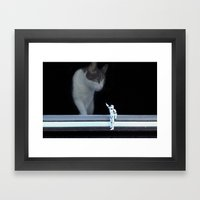Cat in the Window Framed Art Print
