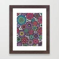 Psychedelic Flowers Framed Art Print