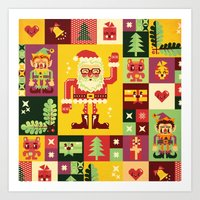 Christmas Geometric Patt… Art Print