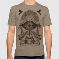 Thoughts Compass Mens Fitted Tee Tri-Coffee SMALL
