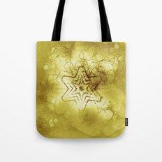 Star mandala in gold Tote Bag