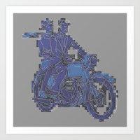 Motorbike  Art Print