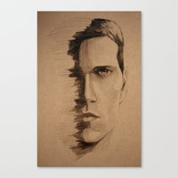 HALF FACE Canvas Print