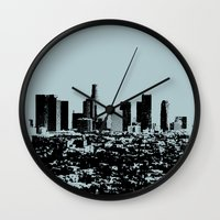 Downtown Los Angeles Sky… Wall Clock