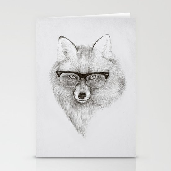 Fox Specs Stationery Card