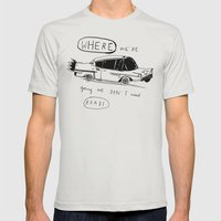 OFF TO BROOKLYN Mens Fitted Tee Silver SMALL