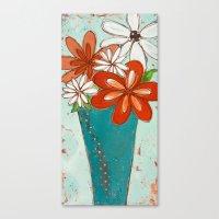 Rustic Flowers Canvas Print
