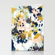 Stationery Cards featuring Sloane - Abstract Painti… by CharlotteWinter