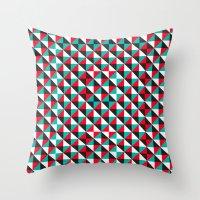Typoptical Illusion A no.4 Throw Pillow