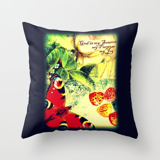 God is my Source, my Purpose, my Joy Throw Pillow