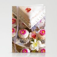 Wedding Cup Cake  Stationery Cards