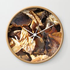 Autumn leaves Wall Clock