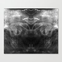 Heart Light (Black and White) Canvas Print