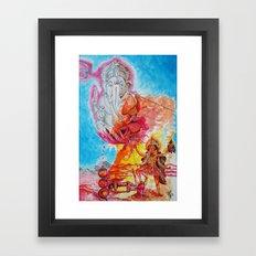 Ganesh Kali Framed Art Print