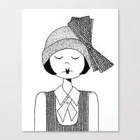 Flapper Girl Canvas Print