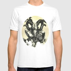 The Ram and the Crows SMALL White Mens Fitted Tee