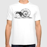 Snail girl Mens Fitted Tee White SMALL