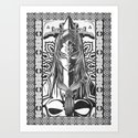 Legend of Zelda Midna the Twilight Princess Line Work Art Print