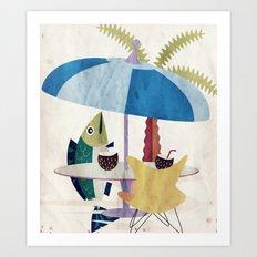Fischzeit Art Print