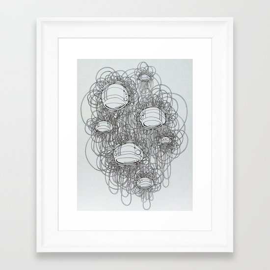 New Line Drawing Framed Art Print